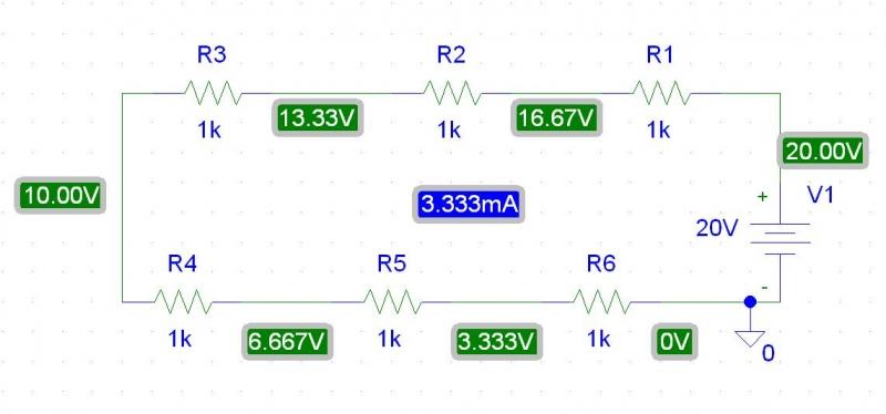 Collegamento delle resistenze in serie, Elettronica