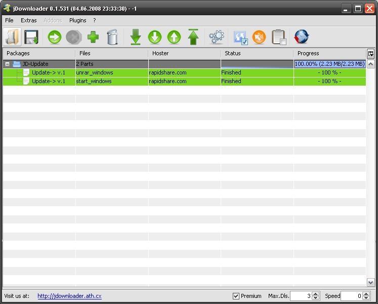 Jdownloader, Software