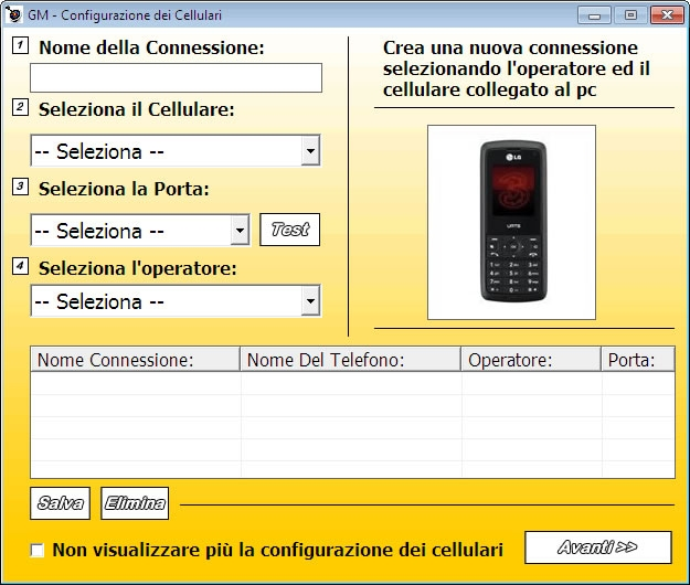 sms marketing gratuito, Telefonia