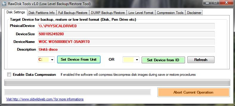 RawDisk, Software