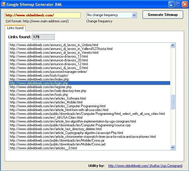 Google Sitemap Generator, Software