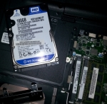 Esempio di un portatile con hard disk classico e una sola ram in single channel