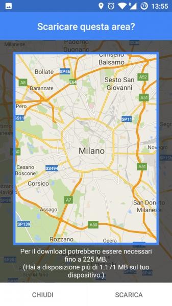 Google Maps Offline, Telefonia