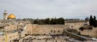 Gerusalemme muro del pianto e cupola d'oro