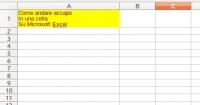 Andare accapo Microsoft Excel la combinazione di tasti da utilizzare