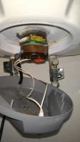 Coperchio in plastica dello scaldabagno