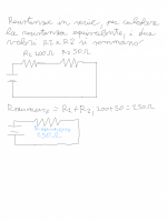 Formula per il calcolo delle resistenze in serie
